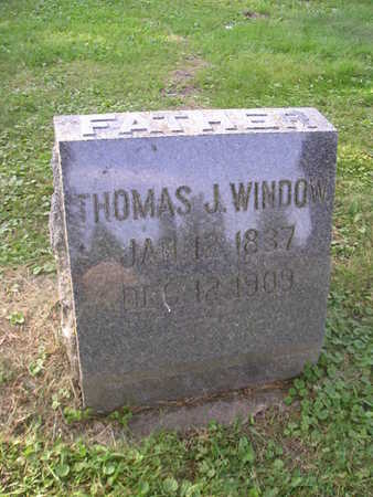 WINDOW, THOMAS J - Bremer County, Iowa   THOMAS J WINDOW