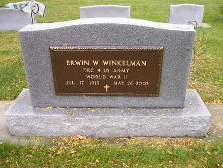 WINKELMAN, ERWIN W - Bremer County, Iowa   ERWIN W WINKELMAN