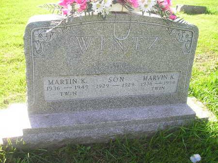 WINTZ, MARVIN K - Bremer County, Iowa   MARVIN K WINTZ