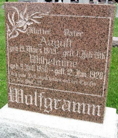 WOLFGRAMM, WILHELMINE - Bremer County, Iowa   WILHELMINE WOLFGRAMM