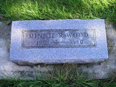 WOOD, MINNIE R - Bremer County, Iowa | MINNIE R WOOD