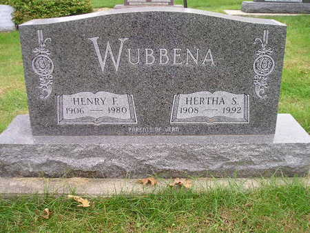 WUBBENA, HERTHA S - Bremer County, Iowa | HERTHA S WUBBENA