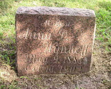 WYNHOFF, ANNA D. - Bremer County, Iowa   ANNA D. WYNHOFF