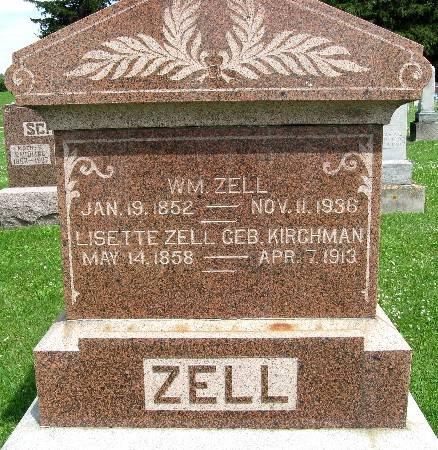KIRCHMAN ZELL, LISETTE - Bremer County, Iowa   LISETTE KIRCHMAN ZELL