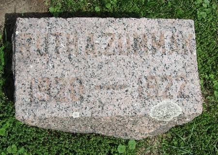 ZUMMAN, RUTH A. - Bremer County, Iowa   RUTH A. ZUMMAN