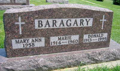 BARAGARY, MARIE - Buchanan County, Iowa   MARIE BARAGARY