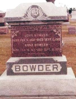BOWDER, JOHN - Buchanan County, Iowa | JOHN BOWDER