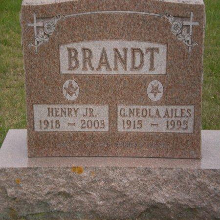 BRANDT, HENRY JR. - Buchanan County, Iowa   HENRY JR. BRANDT
