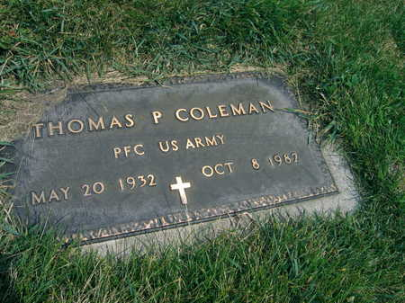 COLEMAN, THOMAS P. - Buchanan County, Iowa | THOMAS P. COLEMAN
