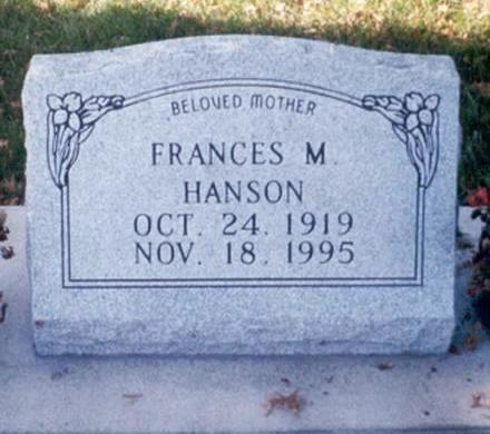 HANSON, FRANCES - Buchanan County, Iowa | FRANCES HANSON