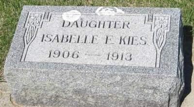 KIES, ISABELLE F. - Buchanan County, Iowa   ISABELLE F. KIES