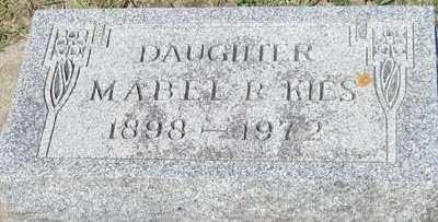 KIES, MABEL R. - Buchanan County, Iowa   MABEL R. KIES