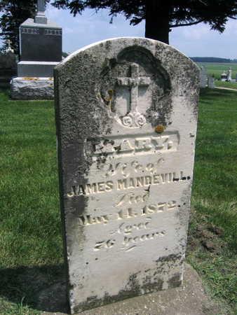 MANDEVILL, MARY - Buchanan County, Iowa | MARY MANDEVILL