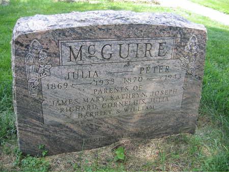MCGUIRE, PETER - Buchanan County, Iowa | PETER MCGUIRE
