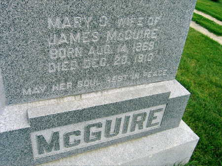 MCGUIRE, MARY C. - Buchanan County, Iowa | MARY C. MCGUIRE