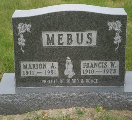 MEBUS, FRANCIS W. - Buchanan County, Iowa | FRANCIS W. MEBUS