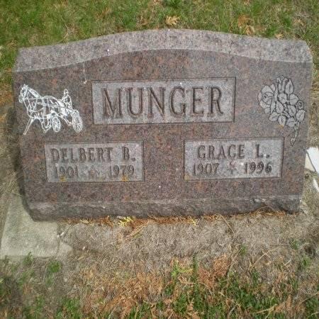 MUNGER, GRACE - Buchanan County, Iowa   GRACE MUNGER