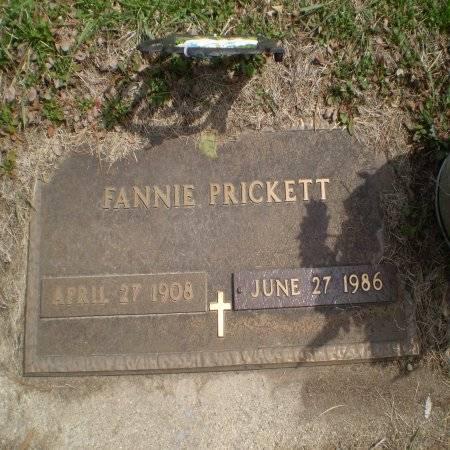 PRICKETT, FANNIE - Buchanan County, Iowa | FANNIE PRICKETT