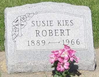 KIES ROBERT, SUSIE - Buchanan County, Iowa   SUSIE KIES ROBERT
