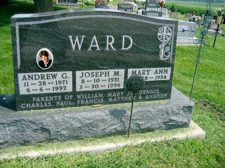 WARD, ANDREW G. - Buchanan County, Iowa | ANDREW G. WARD