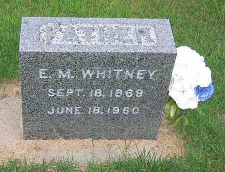 WHITNEY, ERNEST M. - Buchanan County, Iowa | ERNEST M. WHITNEY