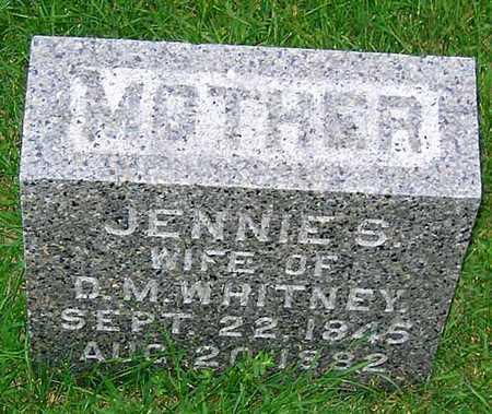 WHITNEY, JENNIE S. - Buchanan County, Iowa   JENNIE S. WHITNEY