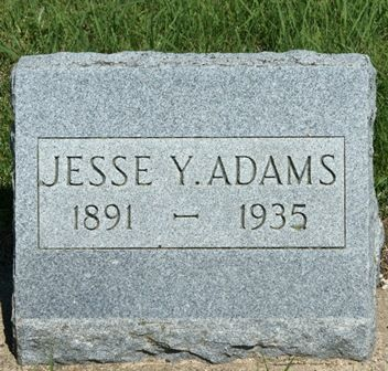 ADAMS, JESSE Y. - Buena Vista County, Iowa   JESSE Y. ADAMS