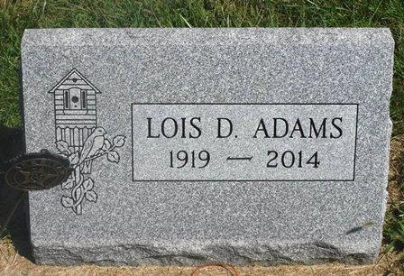 ADAMS, LOIS D. - Buena Vista County, Iowa | LOIS D. ADAMS