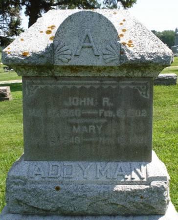 ADDYMAN, JOHN ROBERT - Buena Vista County, Iowa | JOHN ROBERT ADDYMAN