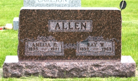 OLSON ALLEN, AMELIA D. - Buena Vista County, Iowa   AMELIA D. OLSON ALLEN