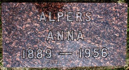 JOHNSON ALPERS, ANNA - Buena Vista County, Iowa   ANNA JOHNSON ALPERS
