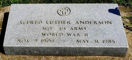 ANDERSON, ALFRED LUTHER - Buena Vista County, Iowa   ALFRED LUTHER ANDERSON