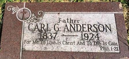 ANDERSON, CARL G. - Buena Vista County, Iowa   CARL G. ANDERSON