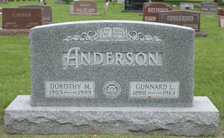 ANDERSON, DOROTHY M. - Buena Vista County, Iowa | DOROTHY M. ANDERSON