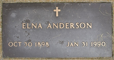 OBERG ANDERSON, ELNA - Buena Vista County, Iowa | ELNA OBERG ANDERSON