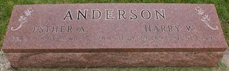 ANDERSON, HARRY W. - Buena Vista County, Iowa   HARRY W. ANDERSON