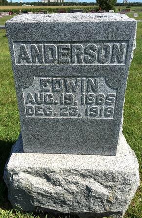 ANDERSON, EDWIN - Buena Vista County, Iowa   EDWIN ANDERSON