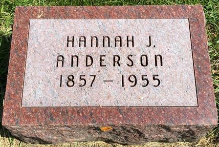 JOHANSON ANDERSON, HANNAH J. - Buena Vista County, Iowa | HANNAH J. JOHANSON ANDERSON