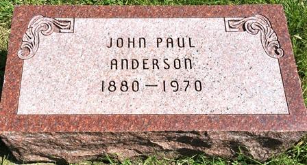 ANDERSON, JOHN PAUL - Buena Vista County, Iowa | JOHN PAUL ANDERSON