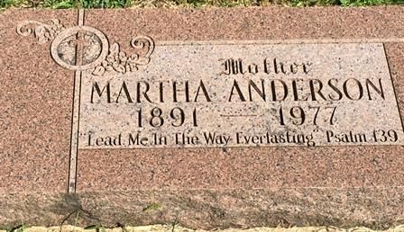 JOHANSON ANDERSON, MARTHA - Buena Vista County, Iowa   MARTHA JOHANSON ANDERSON
