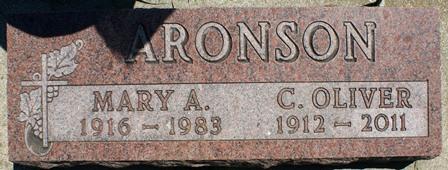 STROUP ARONSON, MARY A. - Buena Vista County, Iowa | MARY A. STROUP ARONSON