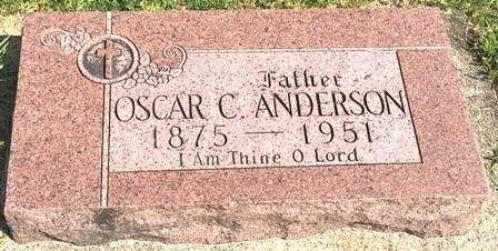 ANDERSON, OSCAR C. - Buena Vista County, Iowa   OSCAR C. ANDERSON