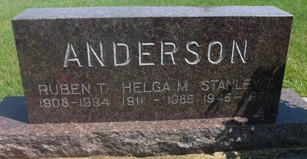 ANDERSON, RUBEN T - Buena Vista County, Iowa | RUBEN T ANDERSON