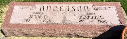 ANDERSON, VERNA B. - Buena Vista County, Iowa   VERNA B. ANDERSON