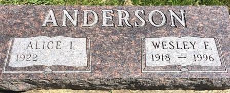 ANDERSON, WESLEY F. - Buena Vista County, Iowa | WESLEY F. ANDERSON