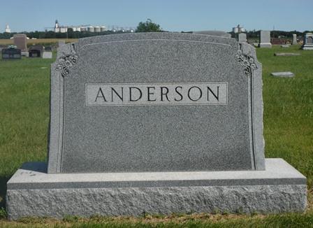 ANDERSON, AUGUST L., FAMILY MONUMENT - Buena Vista County, Iowa   FAMILY MONUMENT ANDERSON, AUGUST L.