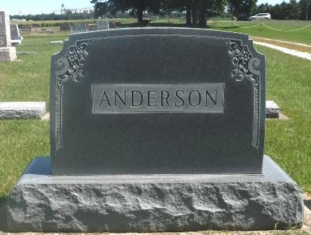 ANDERSON, A. VICTOR, FAMILY MONUMENT - Buena Vista County, Iowa   FAMILY MONUMENT ANDERSON, A. VICTOR