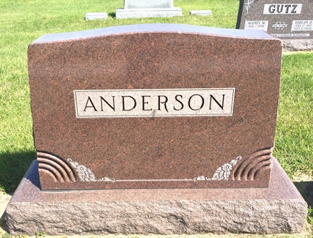 ANDERSON, GUSTAF F., FAMILY MONUMENT - Buena Vista County, Iowa   FAMILY MONUMENT ANDERSON, GUSTAF F.