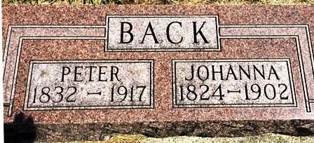 BACK, JOHANNA - Buena Vista County, Iowa   JOHANNA BACK