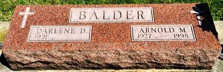 BALDER, ARNOLD M. - Buena Vista County, Iowa | ARNOLD M. BALDER